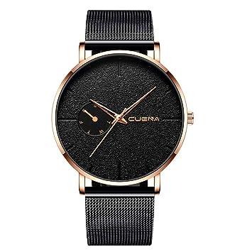 Longra Relojes para Hombres con súper sensación de diseño, Reloj de Pulsera de Cuarzo analógico: Amazon.es: Deportes y aire libre