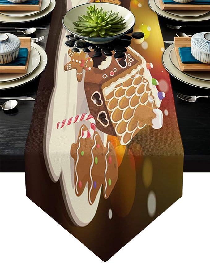 Christmas Gingerbread Men Cookie handmade MINI table runner toilet tank topper approx. 7.5 X 20