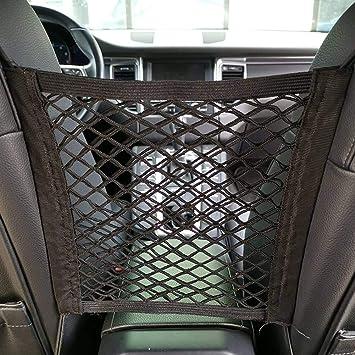 Tasche magischer Aufkleber Sitz-R/ückentasche Netz-Aufbewahrungstasche Auto-Organizer K/äfig Hiqusc Auto-R/ücksitz elastisches Netz
