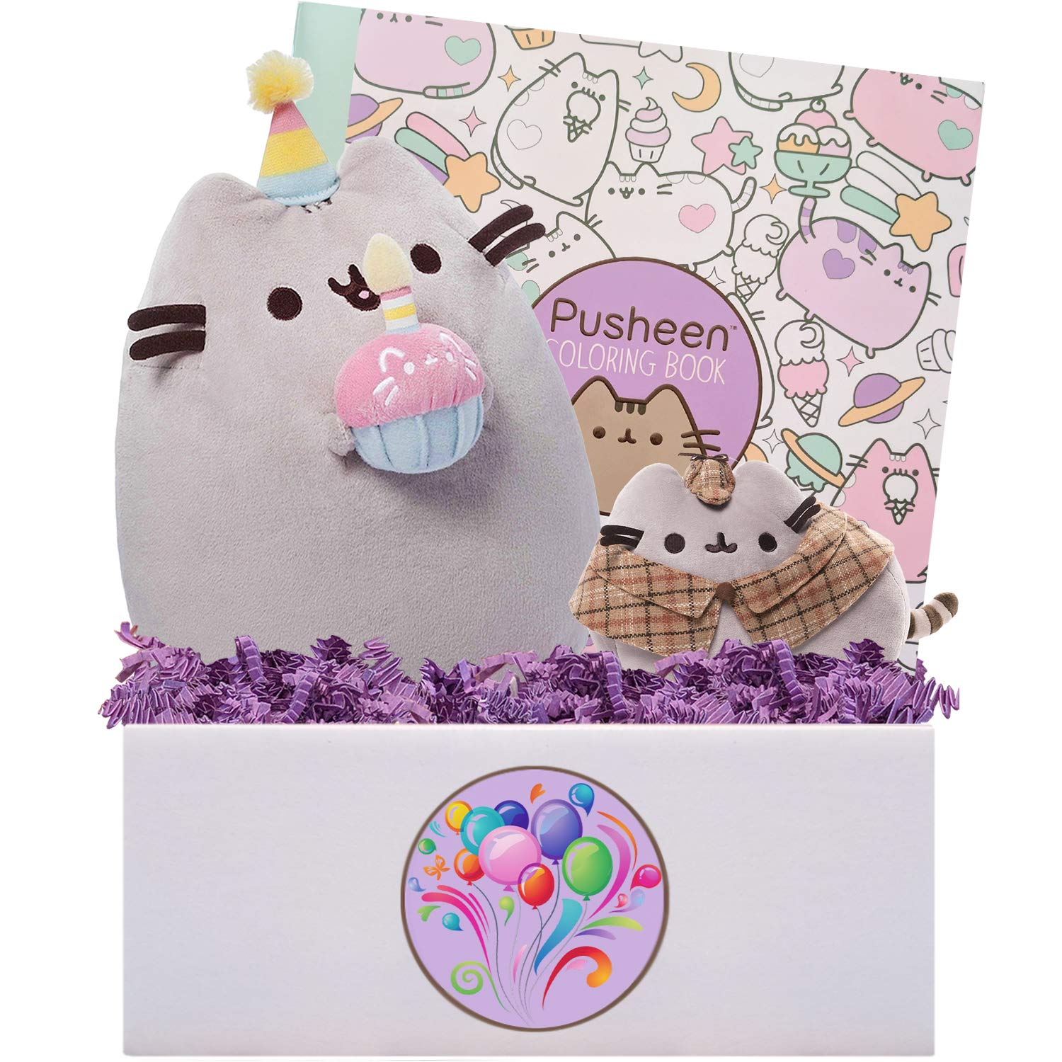 Blue Basil Gifts Pusheen Party Time Gift Box, 10 inches by Blue Basil Gifts