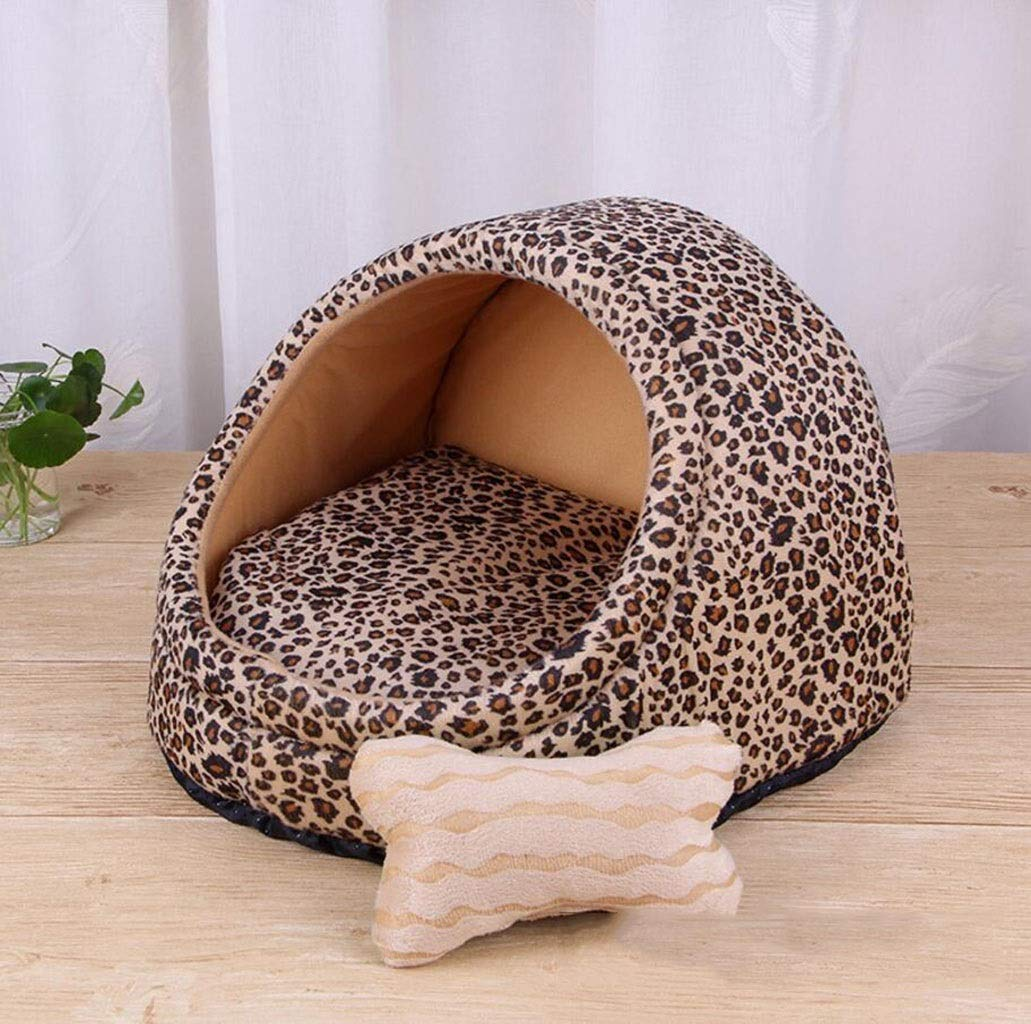 C MGKKXUE Fashion cat nest, Four seasons universal pet cave bed, Indoor dog house, Cat sleeping bed (color   D, Size   L)