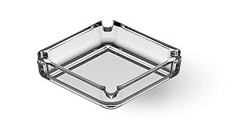 Incrizma Glassware - Imported Square Glass Ashtray (2)