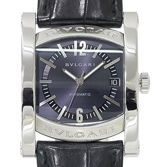 7edfaab45bbd ブルガリ BVLGARI アショーマ AA44S メンズ 腕時計 デイト ネイビー 文字盤 オートマ 自動巻き ウォッチ 【中古