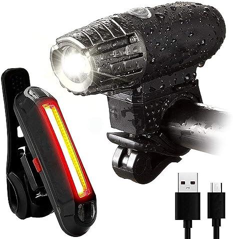 Altruism - Juego de Luces LED Recargables para Bicicleta (Luces ...