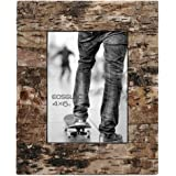 Eosglac Rustic 4x6 Wooden Picture Frame, Handmade with Real Birch Bark, Easel Back, Natural