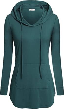 Hoodie SweaterLong Sleeve Hooded TunicBlack cozy sweater