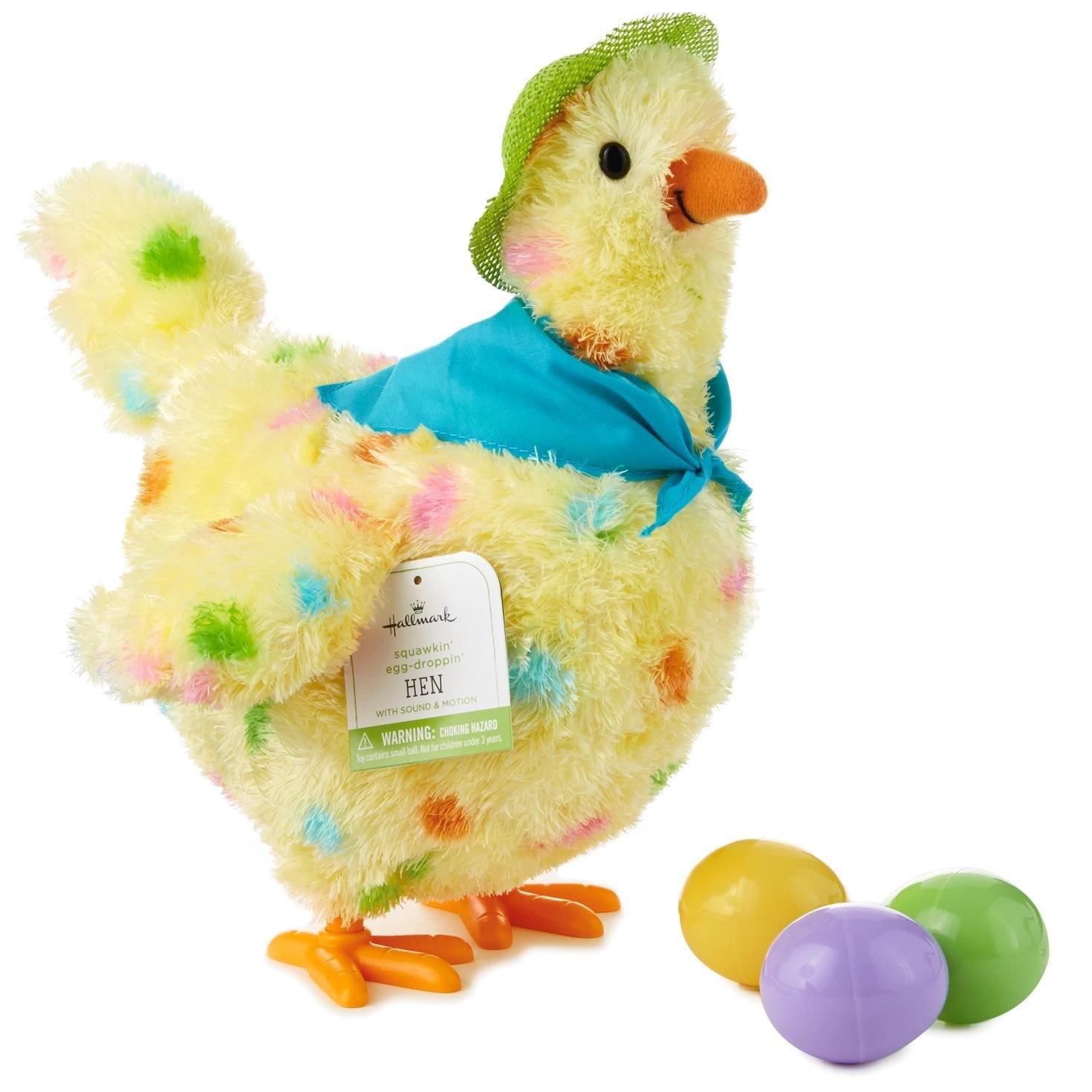 amazon com hallmark squawkin u0027 egg droppin u0027 mama hen 10 inch