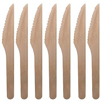 200 Premium Cuchillos De Madera Cubiertos Set - Desechable ...