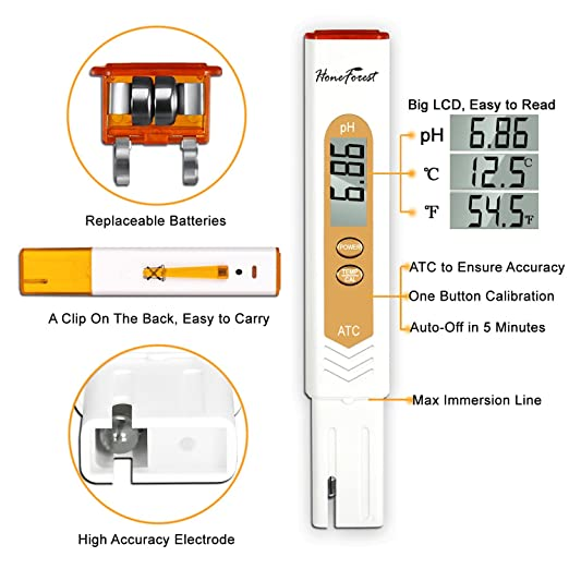 71HwW4OlwdL._SX522_ amazon com honeforest digital ph meter tester, high accuracy and