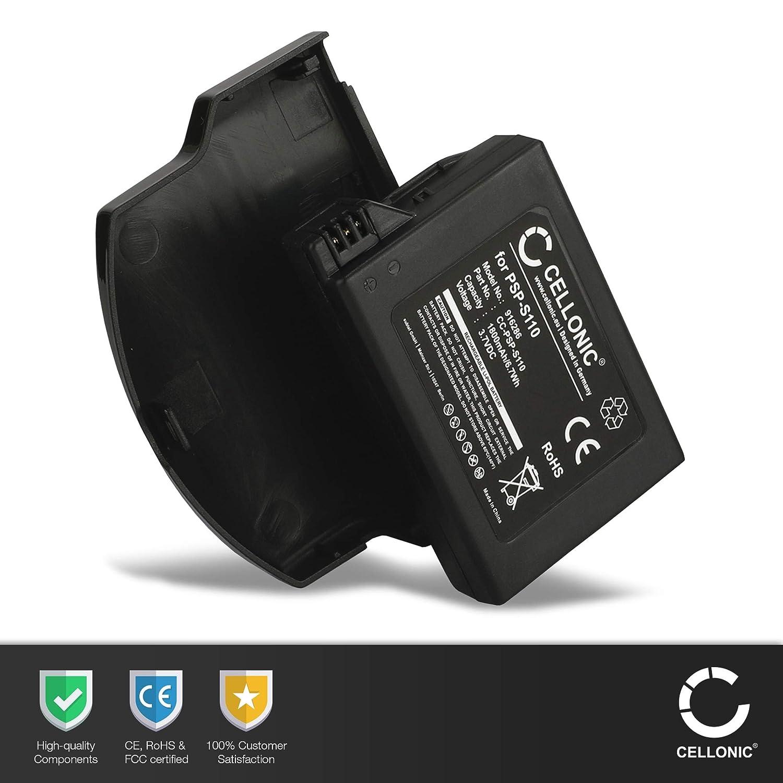 CELLONIC® XL Batería Premium Compatible con Sony PSP Slim & Lite (PSP-2000 / PSP-2004) / PSP Brite (PSP-3000 / PSP-3004) (1800mAh) PSP-S110 bateria de ...