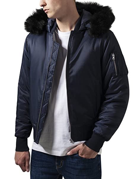 Urban Classics Hooded Basic Bomber Jacket, Chaqueta para Hombre: Amazon.es: Ropa y accesorios