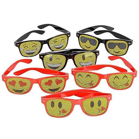 Amazon Com Emoji Mesh Sunglasses 12 Pack Fashionable Unisex