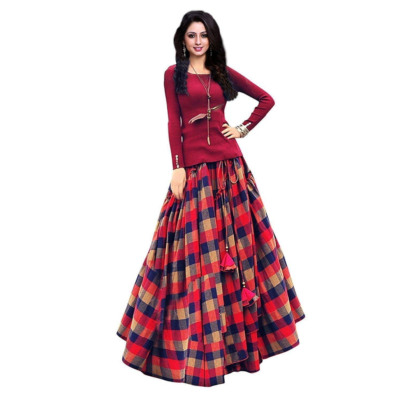 ILP Women's Silk Printed Lehenga Choli for Bridal Wear (DCS-147, Blue, Free Size)