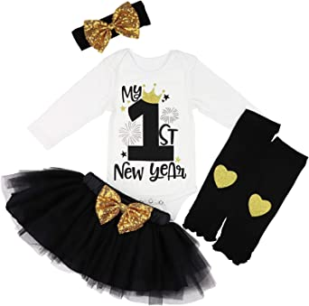 New Years Shirt Happy New Year Baby Girls Tutu Outfit