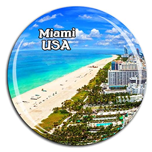 Weekino Playa Miami América EE. UU. Imán de Nevera Cristal de ...