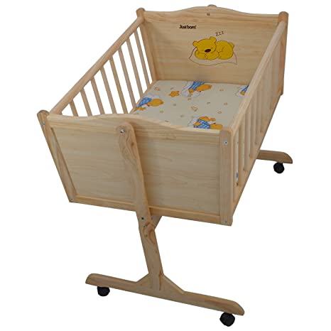 60e617589 Buy Just Born Baby Lullaby Wooden Cradle Online at Low Prices in ...