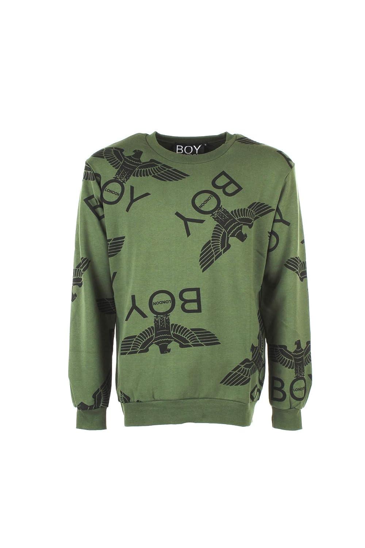 Boy London Felpa  Herren XL Verde Blu5018 Autunno Inverno 2018 19