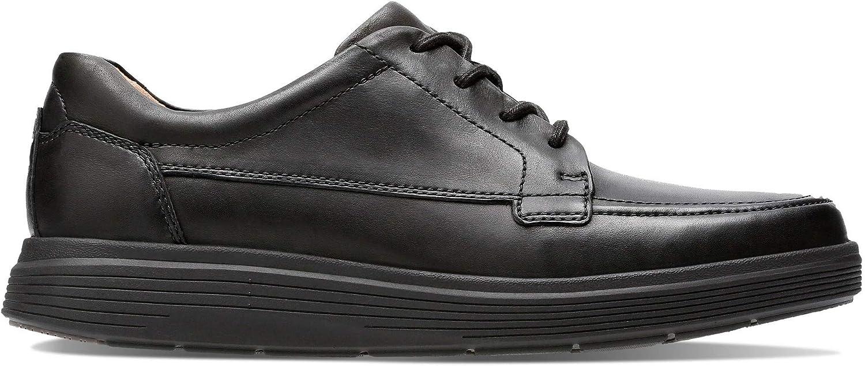 Clarks Onu Morada Facilidad para Hombre Cuero Casual con Encaje Zapatos