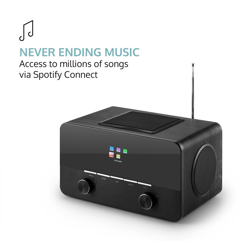 Amazon.com: auna connect 150 BK • 2.1 Internet Radio • Wi-Fi Music ...