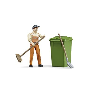 Bruder Figure-Set Waste Disposal Vehicles-Toys: Toys & Games