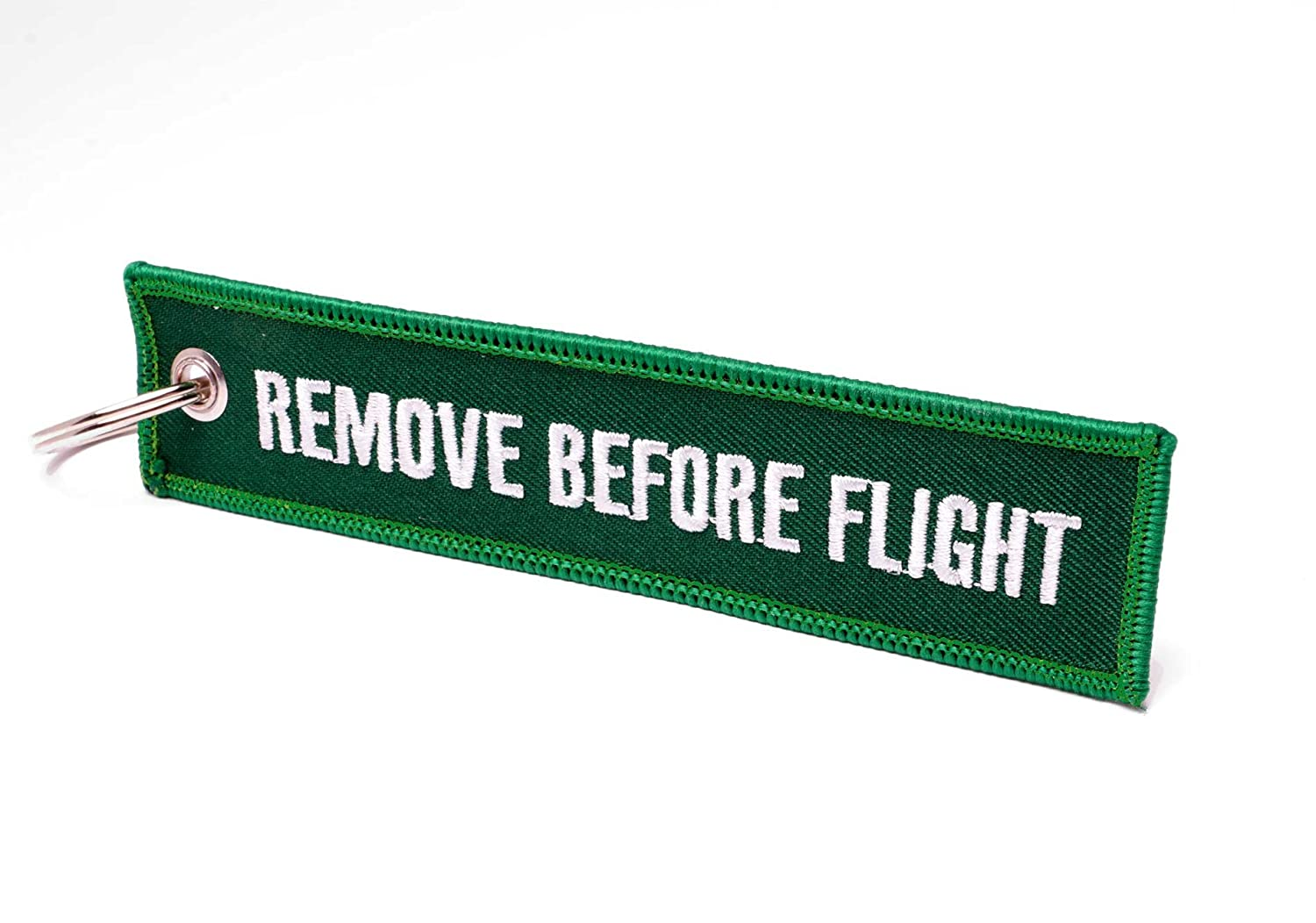 REMOVE BEFORE FLIGHT ® Llavero, Racing Green/Weiße Schrift ...