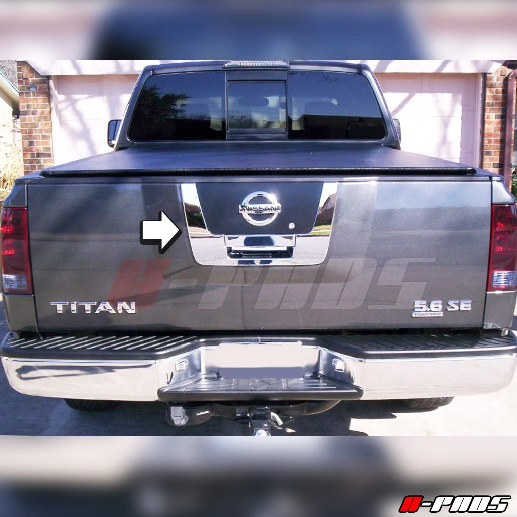 WITHOUT Keyhole A-PADS Chrome Tailgate Cover for Nissan TITAN 2004-2012