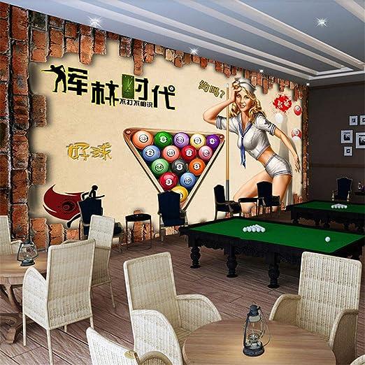 FOREVERFL Papel Tapiz Billar 3D Tenis de Mesa Papel Tapiz KTV Bar ...
