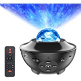 Star Projector Night Light, ALED LIGHT 2-in-1 Ocean Wave LED Starry Night Light Projector Built-in Bluetooth Speaker…