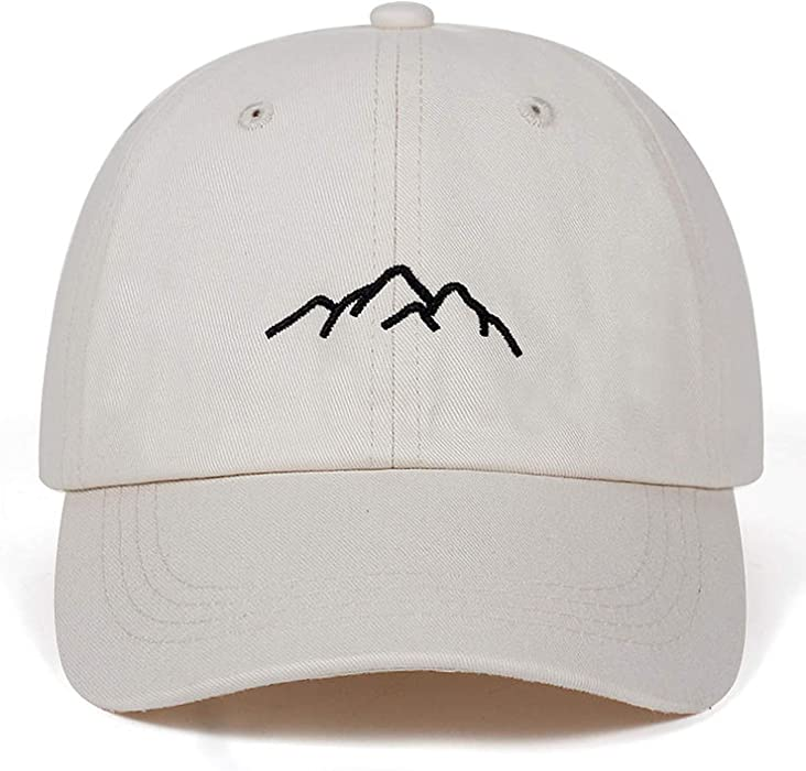 fd9ace10376 CoolBao Embroidery Mens Womens Baseball Caps Adjustable Snapback Caps  Fashion Dad Hats Beige