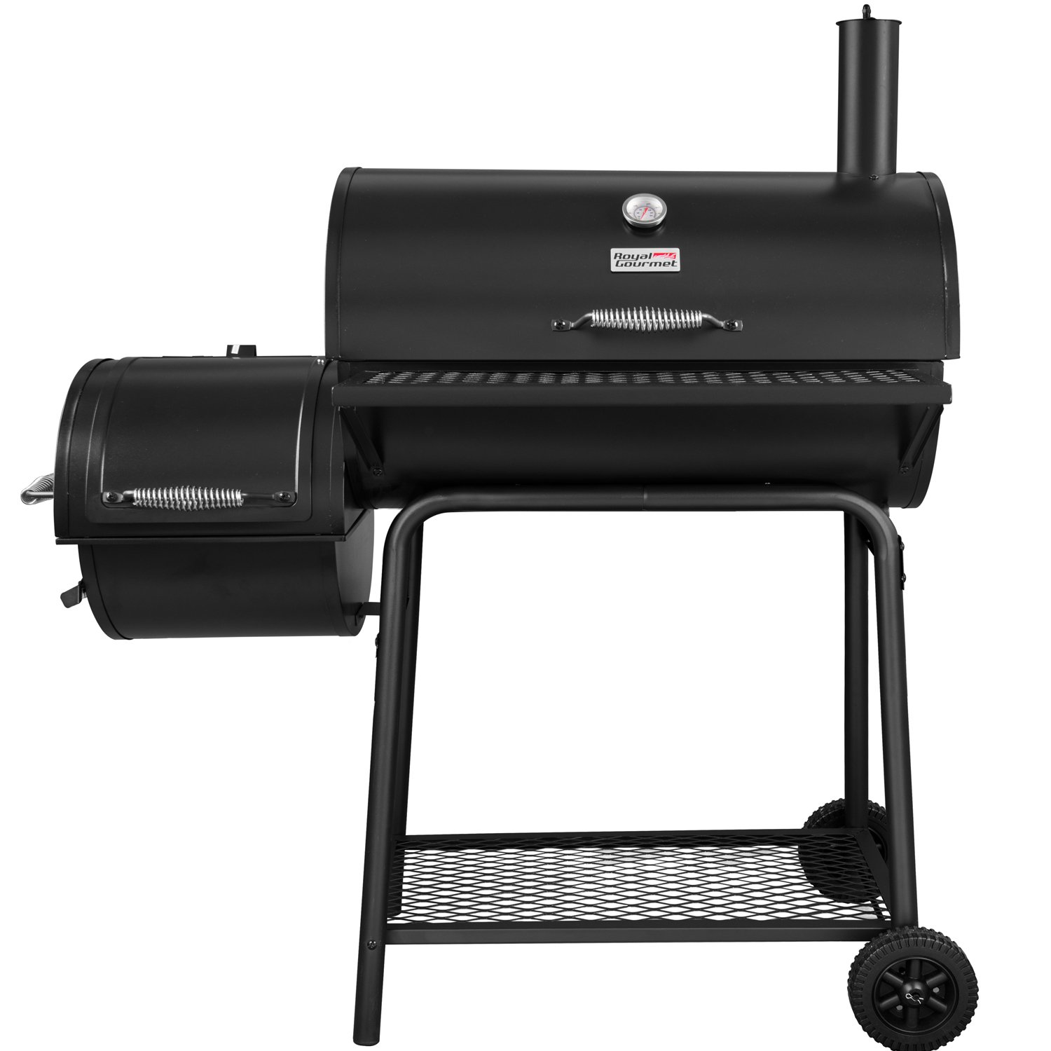 Royal Gourmet CC1830F Charcoal Grill with Offset Smoker, Black