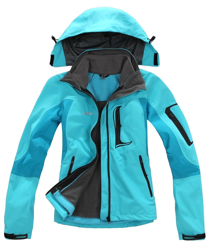 SYRINX Damen 3 in 1 Winddicht Wasserdicht Atmungsaktiv Hardshelljacke Frauen Outdoor Sport Camping Wandern Trekking Jacke