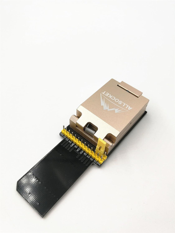 Alloy FBGA153 FBGA169 Memory Reader,eMMC153+169 Mobile Interal Memory Chip-off Adapter eMMC Burn-in Testing Programming Socket Data Recovery Retrieve BGA-SD Adapter ALLSOCKET