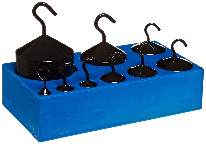 Ajax Scientific 9 Piece Economy Hook Weight Set with Plastic Block