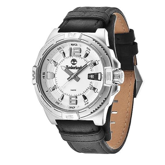 Timberland 0 - Reloj de cuarzo para hombre, con correa de cuero, color negro: Amazon.es: Relojes