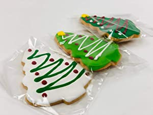 Box of Holiday Cookies w/Icing - Tree only - Bulk 12 PACK - 5 DAYS SHIPPING GUARANTEED - Christmas Cookies - Individually Wrapped - Gift Box - Sweets - Decorated Cookies - Xmas Food