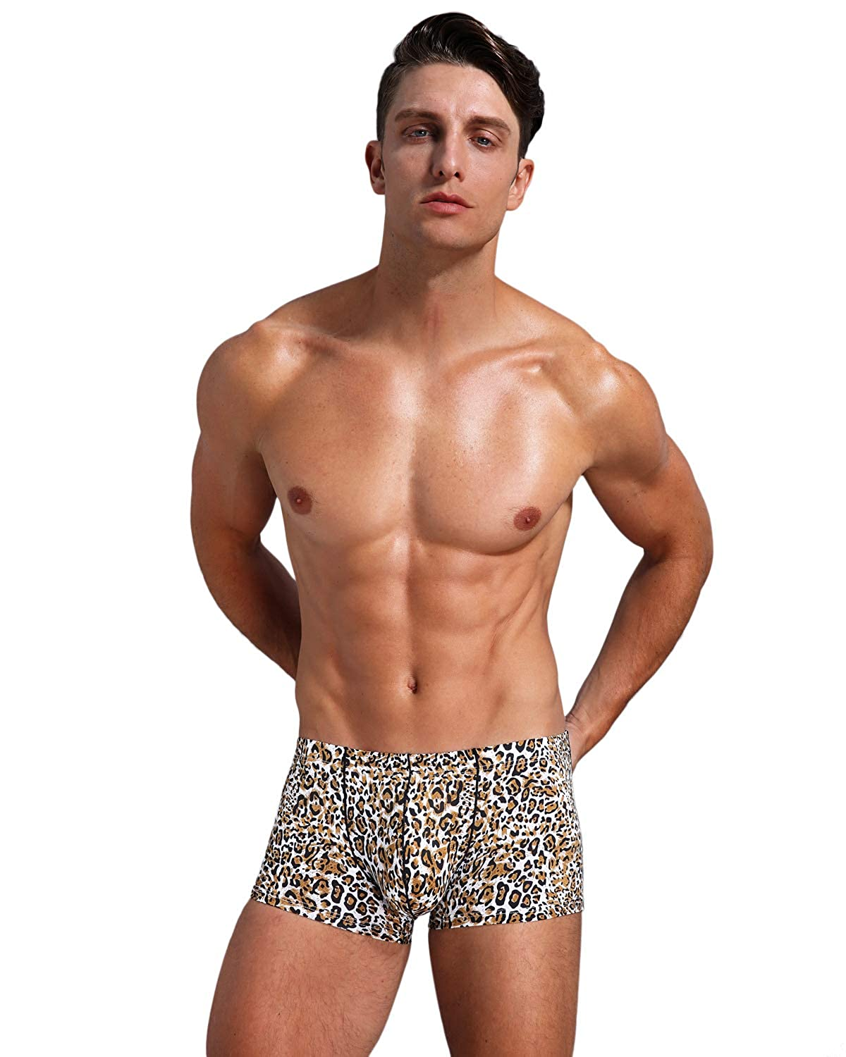 Arjen Kroos Mens Low Rise Printed Boxer Briefs Trunks Underwear