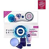 Nivea Nivea Pure Skin – Cepillo limpiador facial eléctrico Kit – edición limitada color blanco