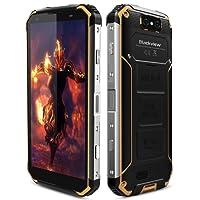 """Blackview BV9500 Smartphone Portable Débloqué 4G, Robuste Téléphone IP68 Imperméable Antichoc Anti-poussière Mobiles Batterie 10000mAh, 12V/2A, 4 Go RAM + 64 Go ROM, 5.7"""" écran, GSM, Double SIM, Octa-core 2.5Ghz, Fonction de Chargeur sans fil, Android 8.1, Sony 16MP +13MP Caméras,GPS, NFC Jaune."""
