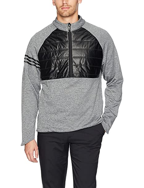 : adidas Mens 3 Stripes Climaheat Quilted 14 Zip