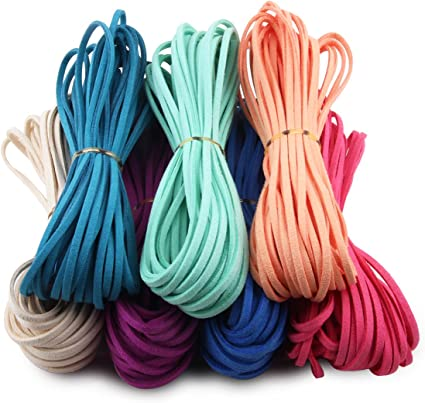 US SELLER-2 yard jewelry finding DIY Hot pink color braided faux leather cord