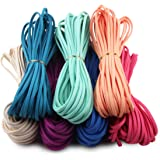 Candygirl Micro-Fiber Flat Leather Lace Beading Thread Faux Suede Cord String Velet( Mix 7 Colors Each 10 Yards)