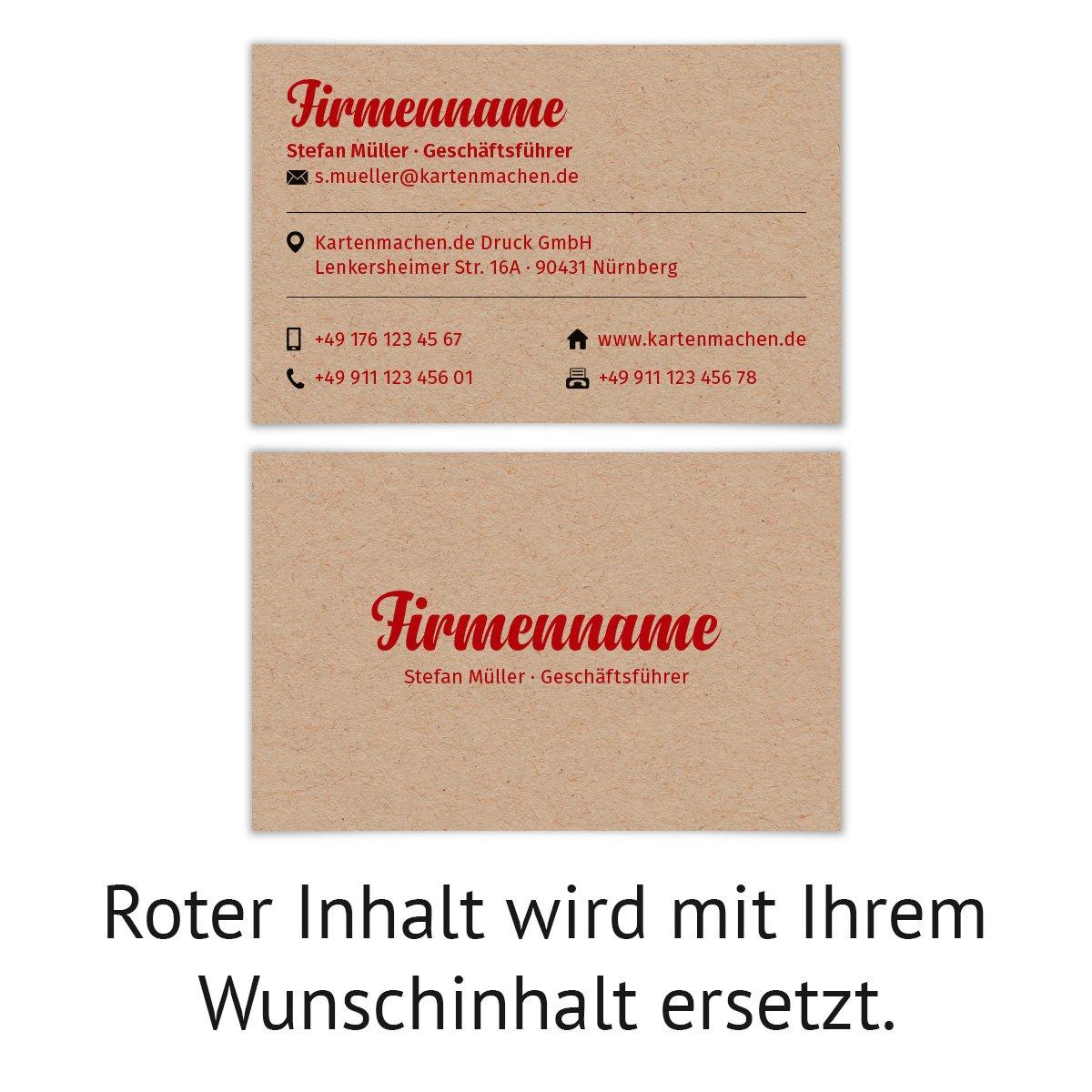 Visitenkarten Individuell Business Karten 300g Qm 85 X 55 Mm