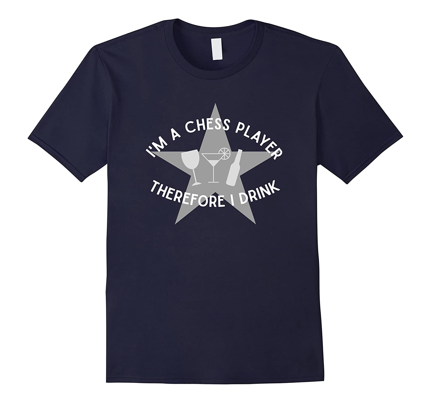 The Official Im a Chess Player Therefore I Drink T-Shirt-TH