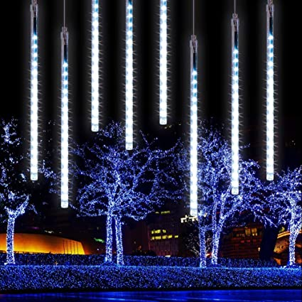 LEDs Meteor Shower Lights Waterproof Falling Rain Icicle Outdoor Christmas Party