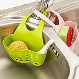 EQLEF® Sponge Aufbewahrungsbox Rack Korb Waschlappen Toilettenseife Regal Organizer Küchenhelfer Accessoriesne Sink Shelving-Tasche