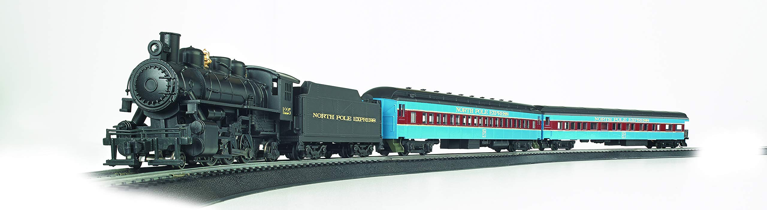 Bachmann Trains - North Pole Express Ready To Run Electric Train Set - HO Scale