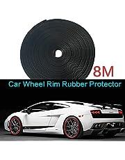 8M Black Car Wheel Rims Rubber Protector Tire Guard Line Moulding Decoration 4X4