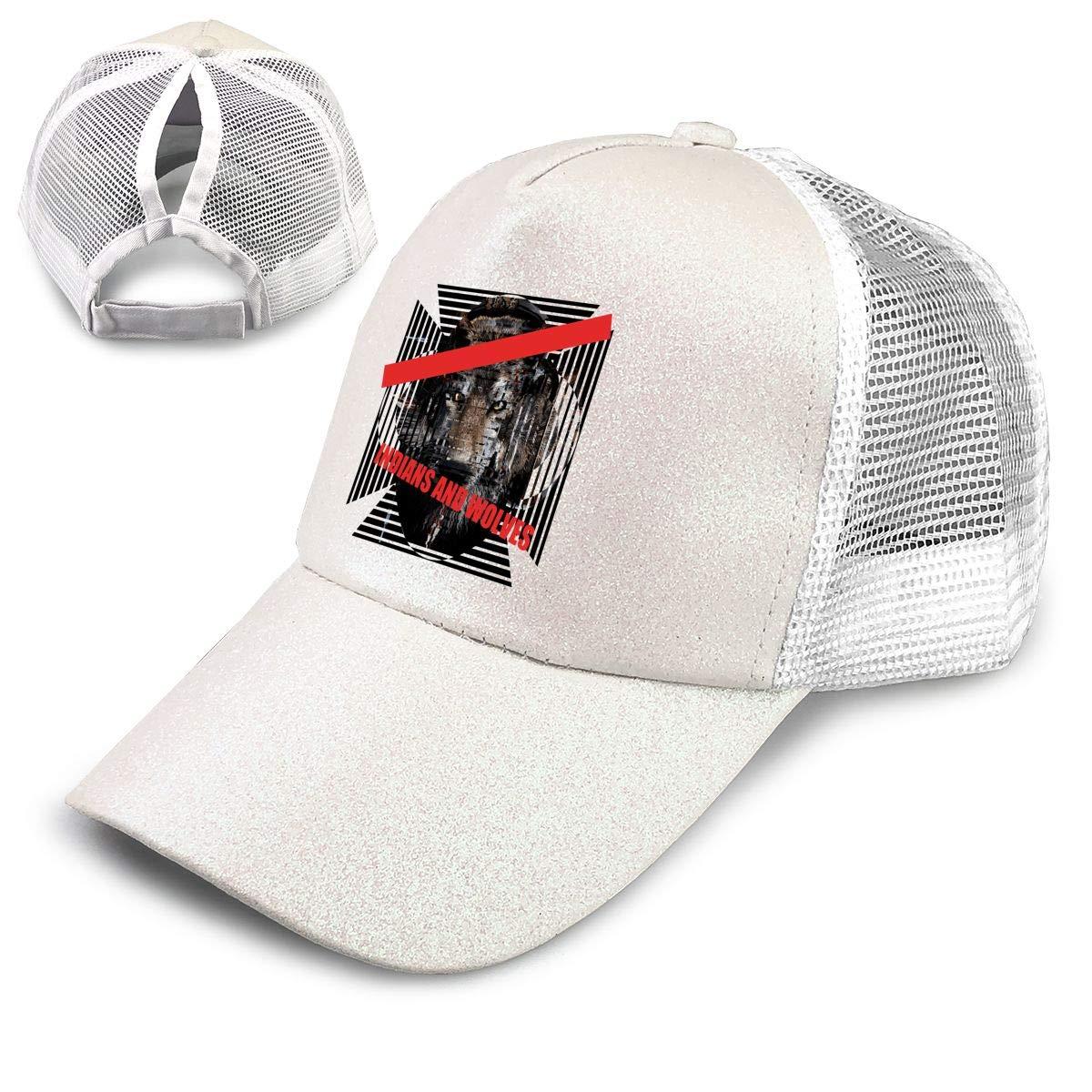 Malaysia Heart Ponytail Messy High Bun Hat Ponycaps Baseball Cap Adjustable Trucker Cap Mesh Cap