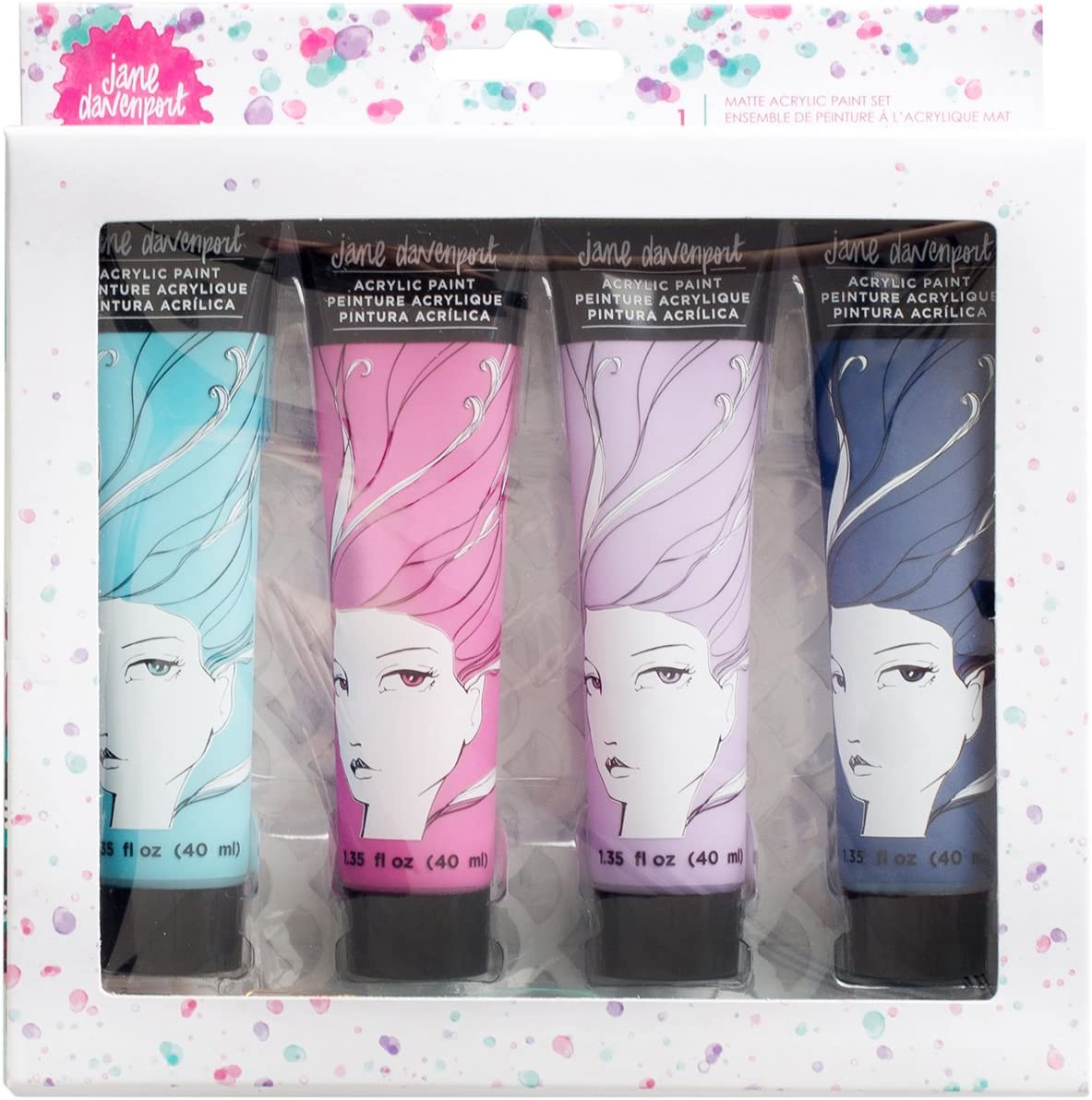Jane Davenport Mixed Media Paint Over Pens Highly Pigmented Paint-like Ink 5 Set