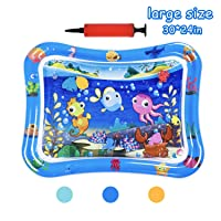 HABOM Upgrade Tummy Time Baby Water Mat Infant Slapped Toys Inflatable Play mat...